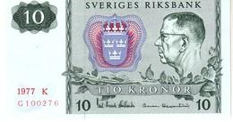 Sweden P.52 10 Kroner  1977 Unc - Svezia