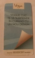 ROMANIA-CIGARETTES CARD,NOT GOOD SHAPE,0.92x0.48CM - Tabac (objets Liés)