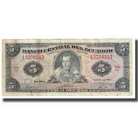 Billet, Équateur, 5 Sucres, 1983, 1983-04-20, KM:108a, TB - Ecuador