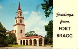 North Carolina Fayetteville Fort Bragg Greetings Showing Post Main Chapel 1977 - Fayetteville