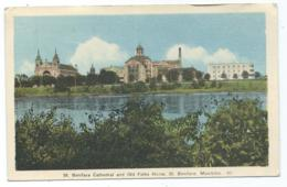 CPSM COLORISEE ST BONIFACE CATHEDRAL AND OLD FOLKS HOME, MANITOBA, CANADA - Other
