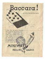 Kingdom Of Yugoslavia 1935 PTT Post Telegraph & Telephone Directions Receipt PHILIPS Miniwatt Radio Tubes - 1931-1941 Kingdom Of Yugoslavia