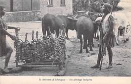 MISSIONS D'AFRIQUE Un Attelage Indigène  (MISSION RELIGION) *PRIX FIXE - Missions
