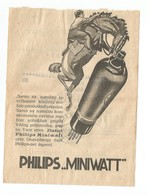 Kingdom Of Yugoslavia 1934 PTT Post Telegraph & Telephone Directions Receipt PHILIPS Miniwatt Radio Tubes - 1931-1941 Royaume De Yougoslavie