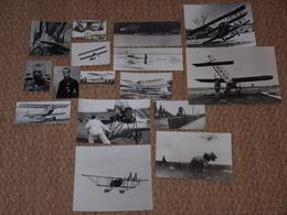 Lot De 16 Photos Anciennes Avion Aviation Début Xxème Siècle ! Photo Ancienne - Aviation