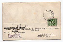 1947 YUGOSLAVIA, SLOVENIA, HRASTNIK-ROGAŠKA SLATINA, CORRESPONDENCE CARD,GLASS WORKS, USED - 1945-1992 Socialist Federal Republic Of Yugoslavia