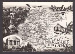91298/ FRANCE, L'Alsace Et Les Vosges - Cartes Géographiques