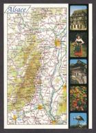91299/ FRANCE, L'Alsace - Cartes Géographiques