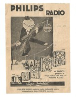Kingdom Of Yugoslavia 1934 PTT Post Telegraph & Telephone Directions Receipt PHILIPS Radio - 1931-1941 Royaume De Yougoslavie