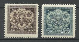 LETTLAND Latvia 1922 Michel 87 - 88 MNH - Lettland