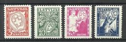 LETTLAND Latvia 1936 Michel 242 - 245 * - Lettonia