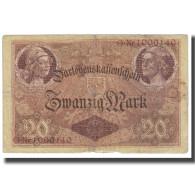 Billet, Allemagne, 20 Mark, 1914, 1914-08-05, KM:48a, TTB - [ 2] 1871-1918 : Empire Allemand