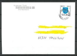 ESTLAND ESTONIA 2019 O Domestic Letter Narva-Jõesuu Coat Of Arms - Estonie