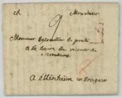 LàC 1791 De Nice à Ettenheim-en-Brisgau . Bailli De Mirabeau à Eyssautier De Prats . Légion Noire Du Vicomte De Mirabeau - Marcofilie (Brieven)