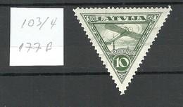 Lettland Latvia 1931 Michel 177 B * WM Inverted Vertical - Latvia