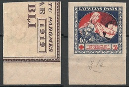 LATVIA Lettland 1921 Michel 54 X ERROR Abart Varity = Missing Green And Blue Print From Backside MNH - Lettland