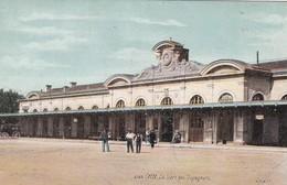 CETTE LA GARE DES VOYAGEURS. LVA AQUA PHOTOS. CPA CIRCA 1900s TBE - BLEUP - Sete (Cette)