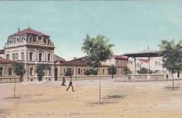 CETTE. PLACE VICTOR HUGO ECOLE DU COMMERCE & MUSEE. LV & C AQUA PHOTOS. CPA CIRCA 1900s TBE - BLEUP - Sete (Cette)