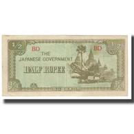 Billet, Birmanie, 1/2 Rupee, KM:13b, TTB - Myanmar