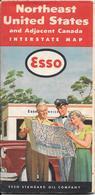 -CARTE ROUTIERE-1953-ESSO-USA NORD Et CANADA -2 Coté ROUTES-BE-RARE-Pas De PLIS Coupés - Roadmaps