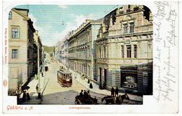 GABLONZ An Der Neiße  - Sudeten - Jablonec Nad Nisou - Gebirgsstrasse - Tram - 1900 - Sudeten