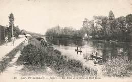 78 Juziers Les Bords De La Seine Au Petit Bras Cpa Carte Animée , Environs De Meulan - France