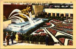 New York City Rockefeller Plaza Radio City Prometheus Statue - New York City