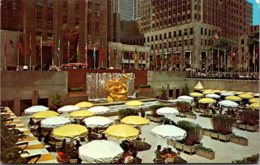 New York City Rockefeller Center Lower Plaza Outdoor Dining Place - New York City