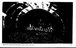 New York City Rockefeller Center Radio City Music Hall Interior Real Photo - New York City