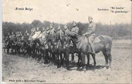"""BRASSCHAET POLYGONE - Armée Belge, Equitation """"En Bataille"""". Oblitération : 08/12/1919 - Regimenten"""