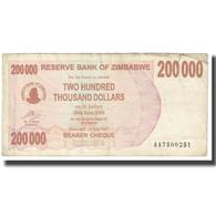 Billet, Zimbabwe, 200,000 Dollars, 2008, 2008-06-30, KM:49, B - Zimbabwe