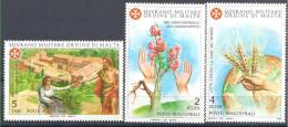 1981 ORDRE MALTE 199-201 **  Handicap, Blé, Faim - Malte (Ordre De)