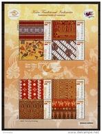INDONESIA 2011 - Trad. TEXTILE Of INDONESIA / Var. Provinces Batik Etc. - No. 2 Minisheet (8v) MNH ** I755 - Indonesia