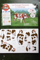 """Animaux VACHE Puzzle En Bois Publicité FROMAGES NORMANDS """"E. GRAINDORGE"""" Camembert Fromagerie LIVAROT NEUFCHATEL - Puzzle Games"""