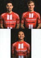 Cyclisme, Pack Complet Sunweb 2019, Pro-Tour, Continentale, Femmes, 50 Cartes - Cyclisme