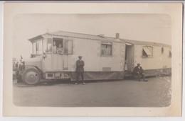CARTE PHOTO D'UNE VILLA ROULANTE SIBILLE ? - DIEPPE 1927 ? - CAMPING CAR - CARAVANE - VILLA & MAISON ROULANTE - 2 SCANS - Cartes Postales