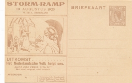 Nederland - 1925 - 7,5 Cent Bontkraag, Huygens Stormramp Borculo-briefkaart STR-3 - Ongebruikt - Material Postal