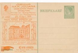 Nederland - 1927 - 5 Cent Veth, Huygens KINABU-briefkaart KIN-3 - Juliana 18 Jaar - Ongebruikt - Entiers Postaux