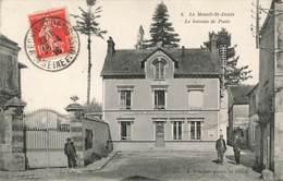 78 Le Mesnil Saint Denis Le Bureau De Poste PTT Cpa Carte Animée Cachet Mesnil St Denis 1916 - Le Mesnil Saint Denis