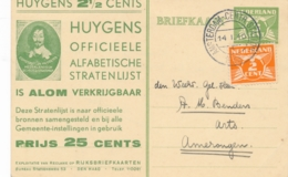 Nederland - 1932 - 3 Cent Cijfer, Huygens 2,5 Cents Reklamebriefkaart RBK16 - Echt Gebruikt Van Amsterdam Naar Amerongen - Ganzsachen