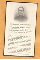 IMAGE  FAIRE PART DECES MILITAIRE SERGENT 97 REGIMENT INFANTERIE ALPINE SKIEUR ECLAIREUR  WW2 1940 ALBERTVILLE - Documents
