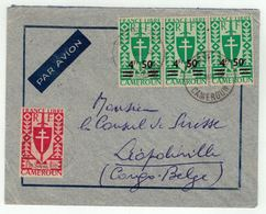 Cameroun // Lettre Par Avion Pour Leopldville - Cameroun (1915-1959)