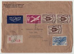 Cameroun // Lettre Recommandée Par Avion Pour Brazzaville - Cameroun (1915-1959)