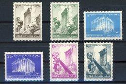 N°130 à 135 LIBAN  POSTE AERIENNE. Série Complète Neuve Sans Charnières ** (MNH) Cote 11 €. TB - Lebanon