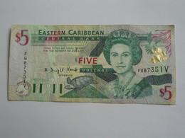 5 Five  Dollars 1987-1988 Eastern Caribbean Central Bank **** EN ACHAT IMMEDIAT **** - Oostelijke Caraïben