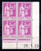 FRANCE - YT N° 371 Bloc De 4 Coin Daté - Neufs ** - MNH - Cote: 70,00 € - 1930-1939