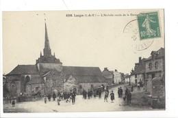 21902 - Langon L'Arrivée Route De La Gare Et L'Eglise - France