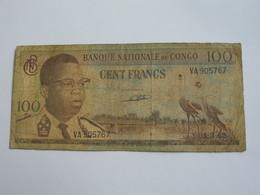 100 Francs 1962 - Banque National Du Congo  **** EN ACHAT IMMEDIAT **** - Congo
