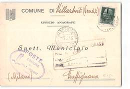 1045 01 RSI REPUBBLICA SOCIALE COMUNE DI VILLARBOIT VERCELLI X GRAFFIGNANA - 1944-45 République Sociale
