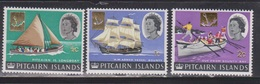PITCAIRN ISLANDS Scott # 72-4 MH - QEII & Ships New Value In Cents - Pitcairn Islands